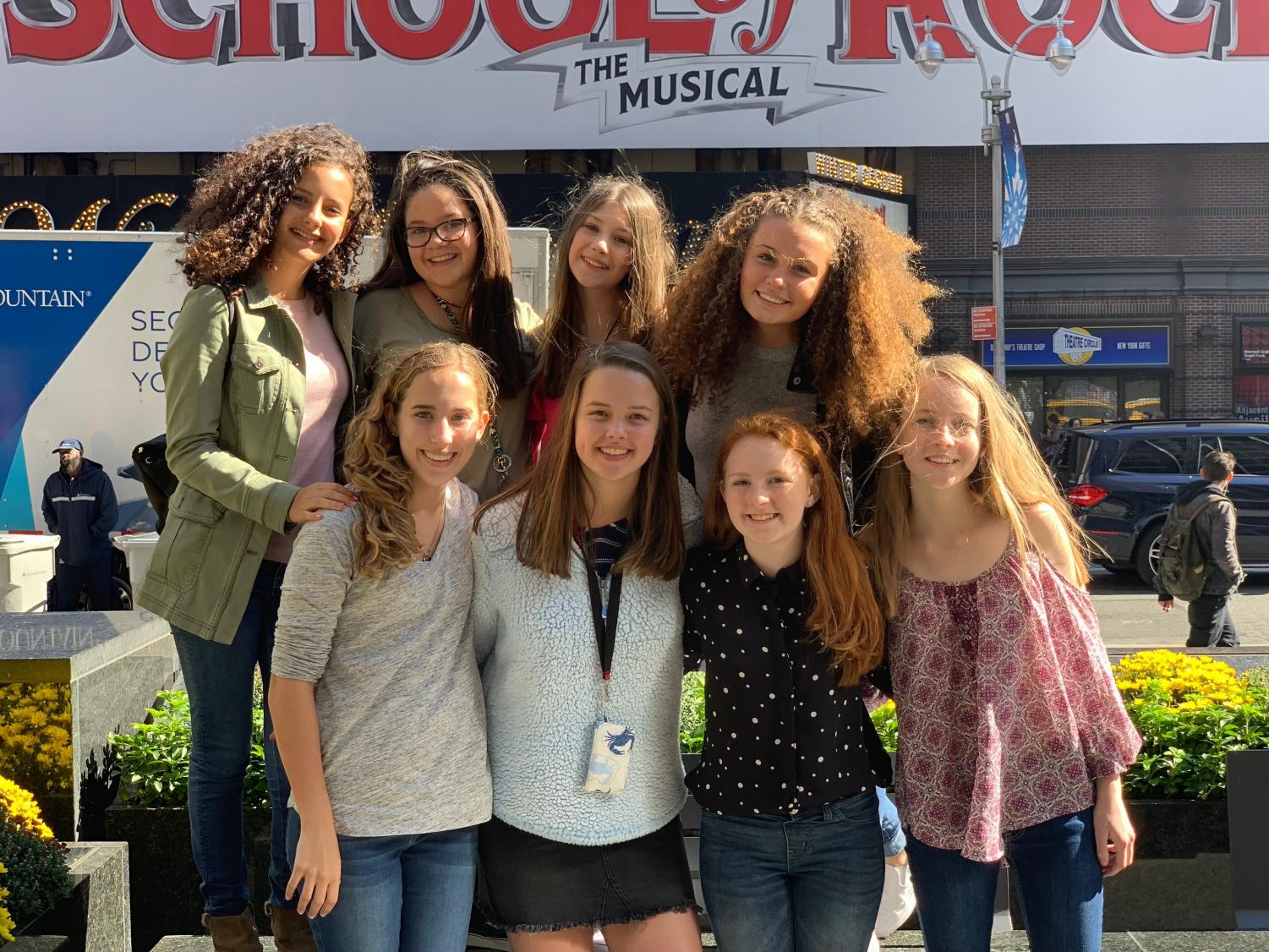 Spalding students in NYC to see the musical