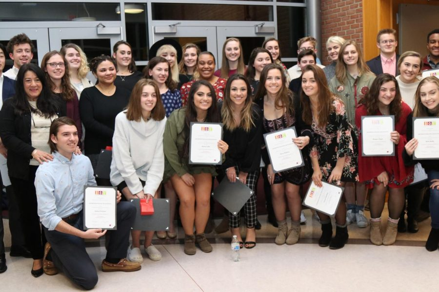 Art+NHS+inductees+at+the+March+26th+ceremony.
