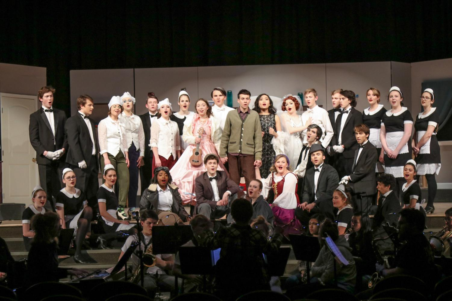 The entire cast of the hilarious musical comedy - The Drowsy Chaperone.